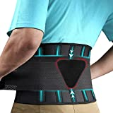 Back Brace Lumbar Support Belt,Lumbar Support Back Brace for Back Pain, Sciatica, Scoliosis, Herniated Disc Adjustable Support Straps-Lower Back Brace with Removable Pad for Men & Women | Small/Medium