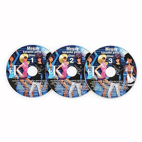 auna Karaoke CD Set , 3er CD-Set , für alle Karaokeanlagen und Karaoke Player mit CD+G Unterstützung , Untertiteln , CDs mit Titeln beschriftet , 3 x 12 cm (Ø)