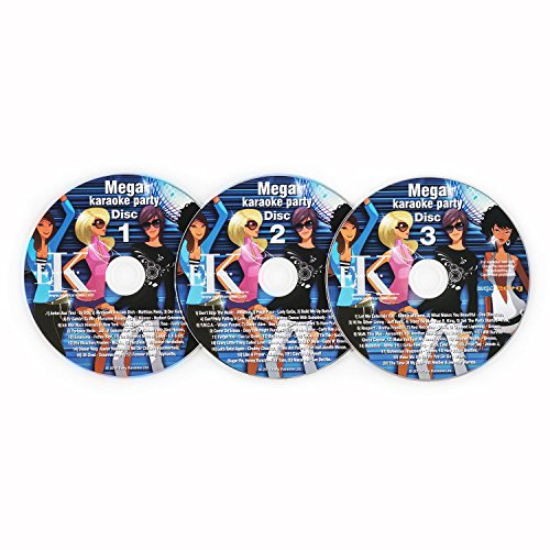 Auna Set de 3 Karaoke CD+G (CD Karaoke con subtítulos,