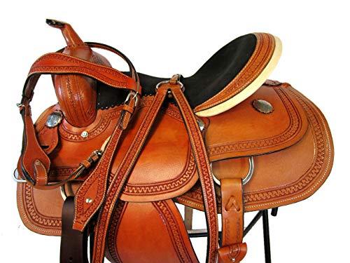 Orlov Hill Leather Co Custom Made Western Saddle 15 16 17 Snake Tooled Pleasure Trail Show Horse TACK (15 Inch)