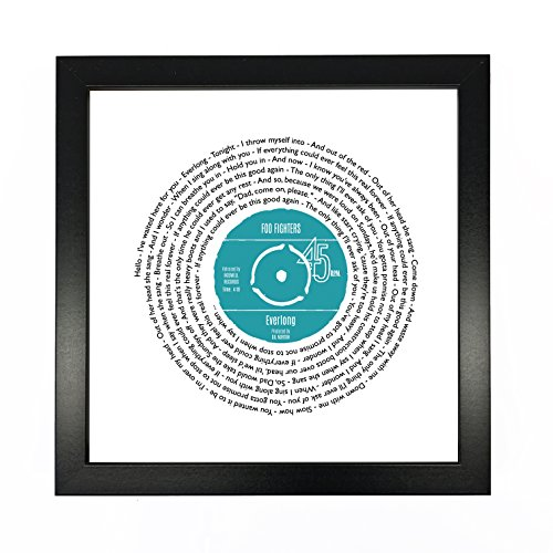 Song Lyrics Print - Personalized Vinyl Record Design - Ideal First Dance Poster with Customized...