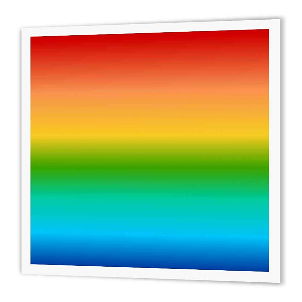 3dRose Rainbow Color Gradient Colorful Multicolor Multicolored Spectrum Also Suitable for Gay Pride Iron on Heat Transfer, 6 by 6