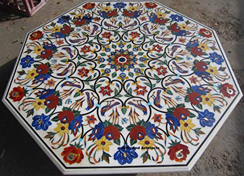 Gifts And Artefakte, 152,4 cm Couchtisch, Konferenztisch, Pietra Dura Art Royal Office Meeting Tisch