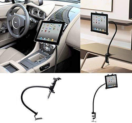 LEDELI CD-schacht auto tablet PC houder mobiele telefoon smartphone magneethouder autohouder voor dashboard hoofdsteunhouder 2 in 1 Aluminium Universal KFZ Halterung zwart