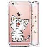 JAWSEU iPhone 7 Plus/8 Plus Custodia Cover Silicone TPU Trasparente, Bella Creativo Protet...