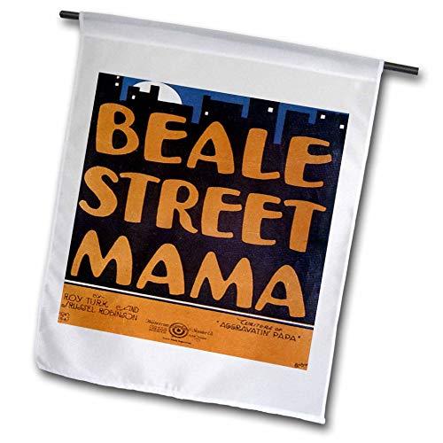 3dRose FL_154823_1 Beale Street Mama City Skyline Vintage Liegebogen Gartenflagge 30,5 x 45,7 cm