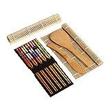 muskmelon Kit para Hacer Sushi en Casa Esterilla de Enrollar Sushi Kit para Hacer Sushi de Bambú DIY Sushi Esteras Rolling Mats Starter Kits Para Principiantes