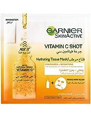 Garnier SkinActive Vitamin C Shot Fresh-Mix Tissue Mask for Energizing & Brightenin, 33g