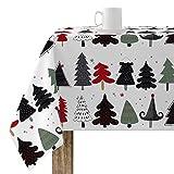 BELUM   Mantel Navidad   Mantel Antimanchas Mesa Rectangular Resinado   Mantel resinado (Tacto plastificado)   Mantel Mesa   Mantel Mesa hogar (100X140 cm)