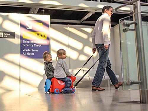 BIG 800055352 – Bobby-Trolley, Kinderkoffer, Kindergepäck, blau - 6