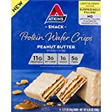 Atkins Protein Wafer Crisps, Peanut Butter, Keto Friendly, 5 Count 2-Pack by Atkins