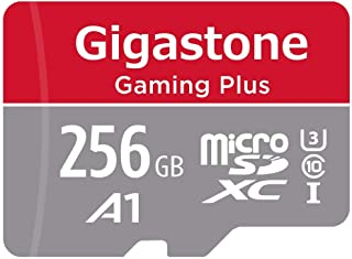 Gigastone Tarjeta de memòria Micro SDXC de 256GB con Adaptador(Clase 10, U1, UHS-I A1).Lectura/Escritura Rendimiento hasta 95/35 MB/s. Proporcionar con Full HD Disponible.