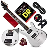 Schecter OMEN-6 6-String Electric Guitar (Vintage White) with Clip-On Tuner and Accessory Bundle