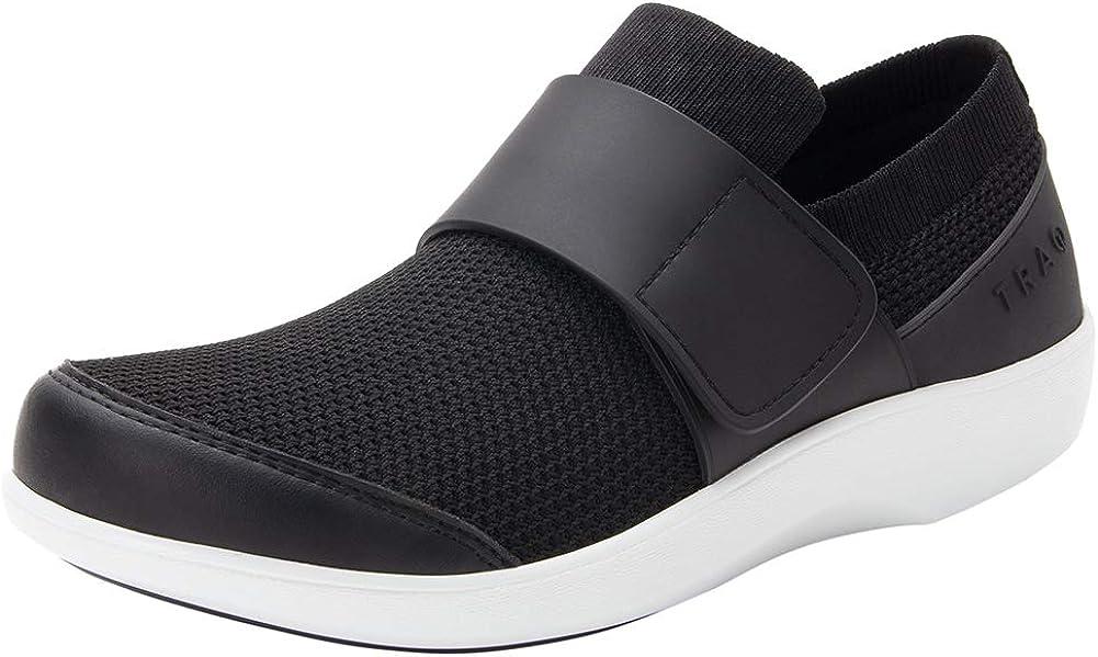 Alegria TRAQ Qwik Womens Smart Walking Shoe Black Top 7 M US