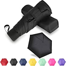 GAOYAING Compact Travel Umbrella Sun&Rain Lightweight Small and Compact Suit for Pocket Black