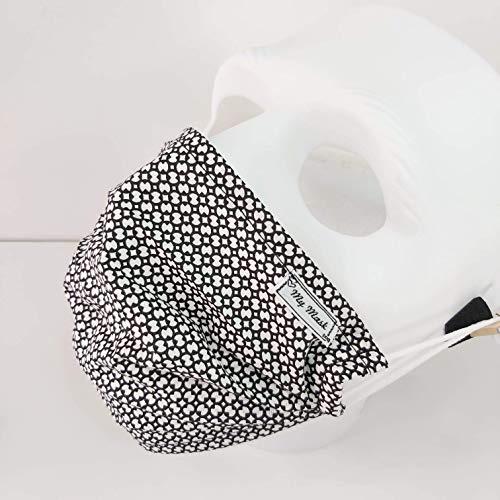 Paris Styl Stoffmaske aus Baumwolle_Gesichtmaske Atmungsaktiv Atemmaske Mundbedeckung Nase-Mund-Bedeckung einlagig mehrwegmaske