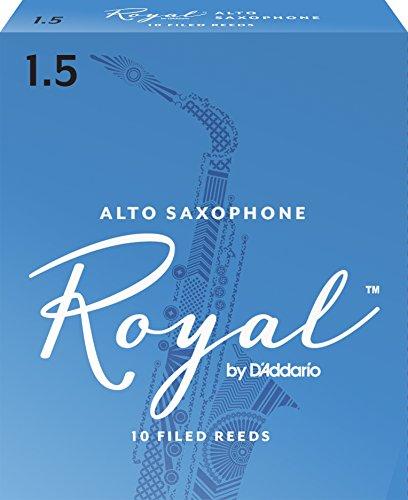Rico Royal 1.5 Strength Reeds for Alto Sax (Pack of 10)