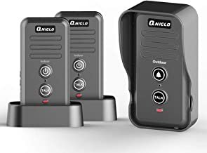 Wireless Doorbell, QNIGLO Portable IP55 Waterproof Wireless Intercom Doorbell Operating at Over 2000 Feet, Rechargeable Two Way Talk Chime Kit for Home and Office (2 Receiver&1 Push Button)
