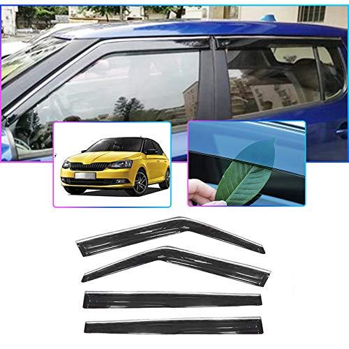 Auto Windabweiser Für S Koda Fabia 2011-2014 Seitenfenster Blockiere die Sonne und den Regen Durchscheinender Fensterabweiser 4 Stück Set