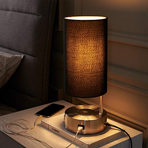 Lampression USB Nightstand Lamp with Wireless Charging...