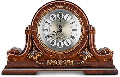 Decodyne Reloj de mesa de madera sintética, diseño antiguo