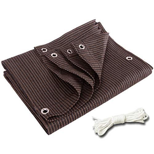 Sonnenschutznetz, 95% Sonnenschutzgewebe mit Ösen for Pergola-Überdachung, Kaffeefarbe (Size : 4m x 8m)