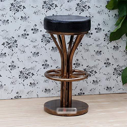 FISHD Antiker Barhocker aus Kupfer Küchenbarhocker Premium-Export xipi mit Fußrastenchassis und Fußpolster Geeignet für eine Vielzahl von Böden,Retro industria Art,A