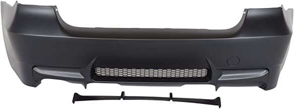 Rear Bumper Cover Compatible With 2006-2011 BMW E90 E91   3-Series M3 Style PP Rear Bumper Conversion Replacement Diffuser Single Outlet by IKON MOTORSPORTS   2007 2008 2009 2010