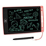 LCD Writing Tablet 8.5 Inch Toddler Doodle Board, Colorful Drawing Tablet, Erasable Electronic Painting Pads, Educational and Learning Kids Toy for 2 3 4 5 6 Year Old Boys and Girls Gifts(Pink)