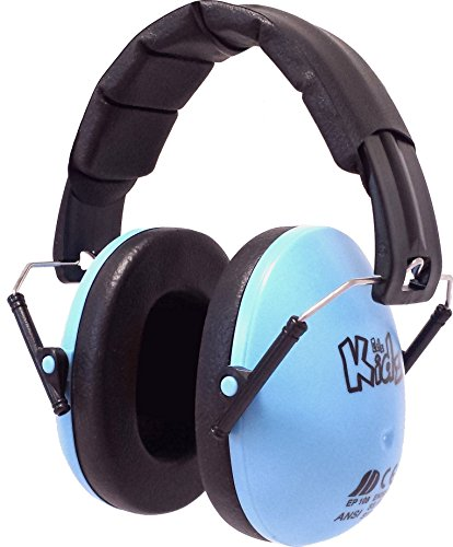 Edz Kidz Ear Defenders. Ear Protection for Toddlers Through Teens. (Light Blue)