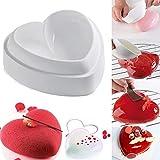 Moule silicone gâteau forme coeur bombé , pâtisserie 3D Anti adhérent, Moule à manqué original silicone de qualité Pro design- St Valentin Love Amour - 14*15*5 cm