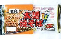 #573285 麺屋あおき麺一筋 太麺 むし焼そば 特製ソース6食付 ボリュームの6食(200g×6食)要冷蔵