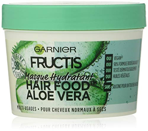 Garnier Fructis Masque Hydratant Multi-Usages Aloe Vera, Pour Cheveux Normaux à Secs, 390 ml