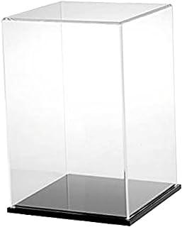 Baoblaze Clear Acrylic Display Case with Black Base - 25x25x35cm / 10x10x14 inch