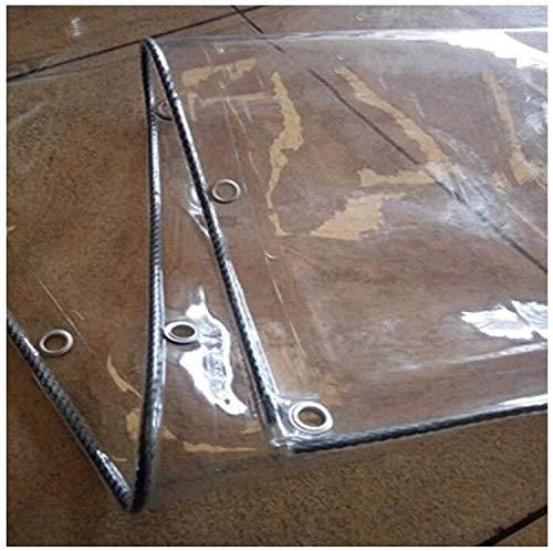 JXQ Lona transparente resistente al agua, lona transparente de PVC suave, cortina anticongelante, antienvejecimiento, cubierta de toldo antiviento (0,3 mm/360 g/m2) (tamaño: 2,4 x 4 m)