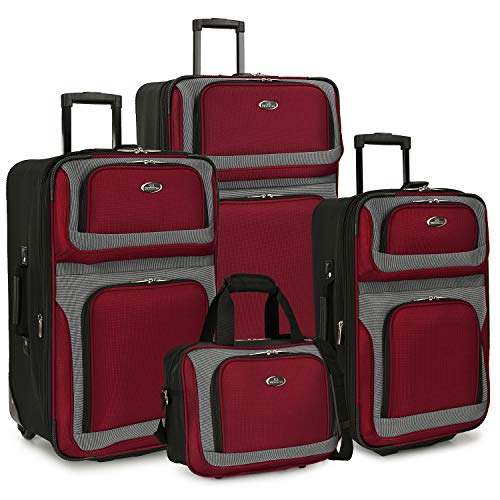 U.S. Traveler 4-Piece Set, Red