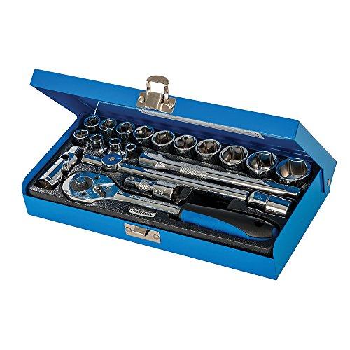 Silverline 868524 - Juego de llaves de vaso métricas 3/8