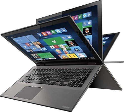 "Toshiba - Satellite Radius 2-in-1 15.6"" 4K Ultra HD Touch-Screen Laptop - Intel Core i7 - 16GB Memory - 512GB SSD - Carbon Gray"