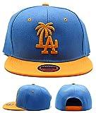 Headlines Los Angeles Custom Palm Sky Blue Gold Yellow Snapback Hat