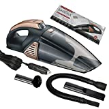 Car Vacuum Cleaner - Cord handheld Vacuum High Power for Quick Car Cleaning 5000PA 106W 12V Portable Car Vacuum With LED Light Low Noise Wet and Dry Use Auto with 5MTR Power Cord and Carry Bag.