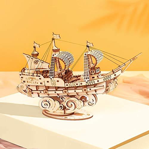 Puzzle Robotime 3D Holzpuzzlespiele Boot & Schiff Modell Spielzeug Für Kinder Kinder Mädchen Geburtstagsgeschenk