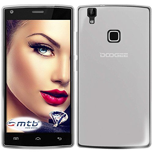 mtb more energy® Schutzhülle Milky für DOOGEE X5 MAX / X5 MAX Pro (5.0'') - weiß/transparent - flexibel - TPU Hülle Schutz Hülle Tasche