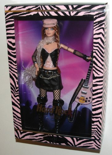 2004 Barbie Collector Silver Label, Hard Rock Barbie Doll with Guitar! (1 Each) Retired, #2 in the Hard Rock Cafe Barbie Doll Collection.