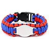 NELLOYA DIY Personalized Cuff Custom Football Team Paracord bracelets,customized Inspirational Bracelets Family Photos/Name/Date/Location Jewelry (Buffalo)