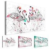 murando Cuadro en Lienzo Flamencos 90x60 cm 1 Parte Impresión en Material Tejido no Tejido Impresión Artística Imagen Gráfica Decoracion de Pared Flamenco g-C-0048-b-b