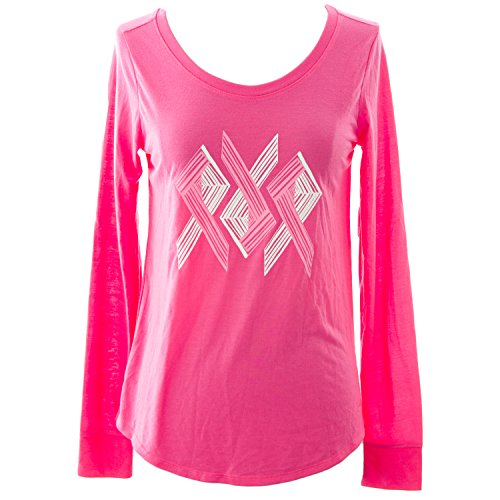 Under Armour Womens Power in Pink Triple Ribbon Longsleeve, Cerise, Small