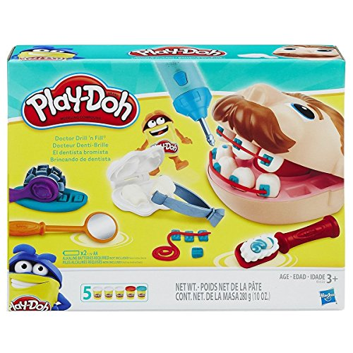 ROCKET SCIENCE TOYS Doctor Drill N Fill Retro Play Doh Set 5 Cans Toy Fun Dentist Kids Gift New,, 2018