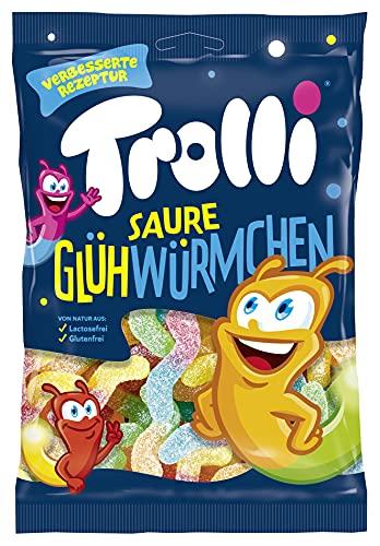 Trolli Saure Glühwürmchen, 18er Pack (18 x 200 g) Verpackung kann variieren