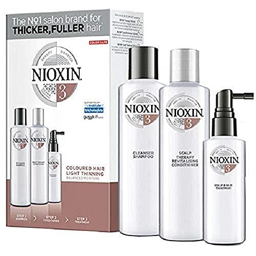 Nioxin Kit Trifasico Sistema 3 per Capelli Colorati Leggermente Assottigliati - 150 ml