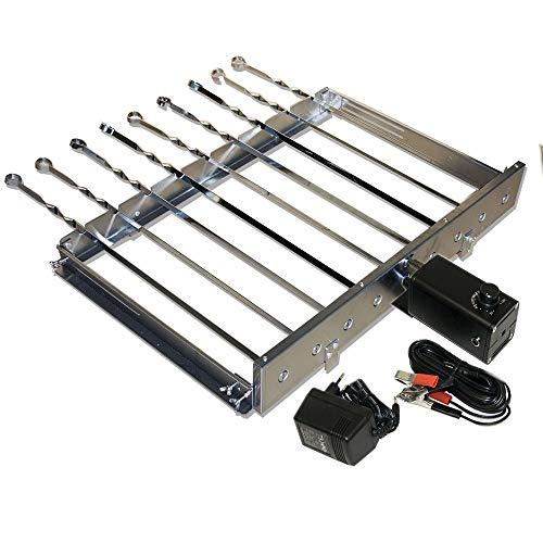 Elektrischer Spießdreher für Grill Mangal 60x30 Extra Starker Motor